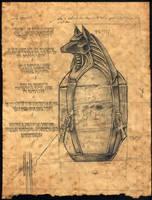 Unusual Canopic Jar by damon-gear