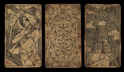 Tarot Tryptich by damon-gear
