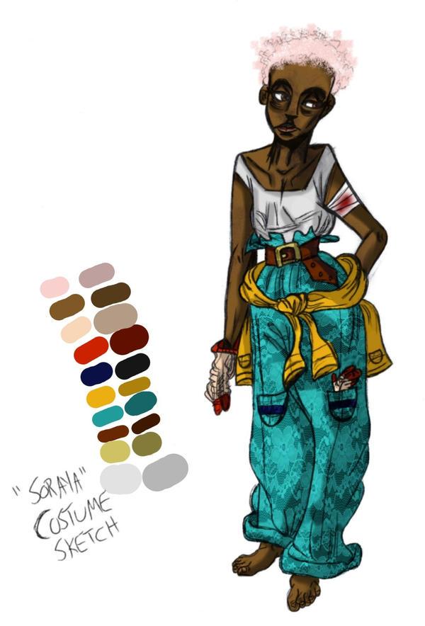 Soraya Costume Sketch by Queen-Asante