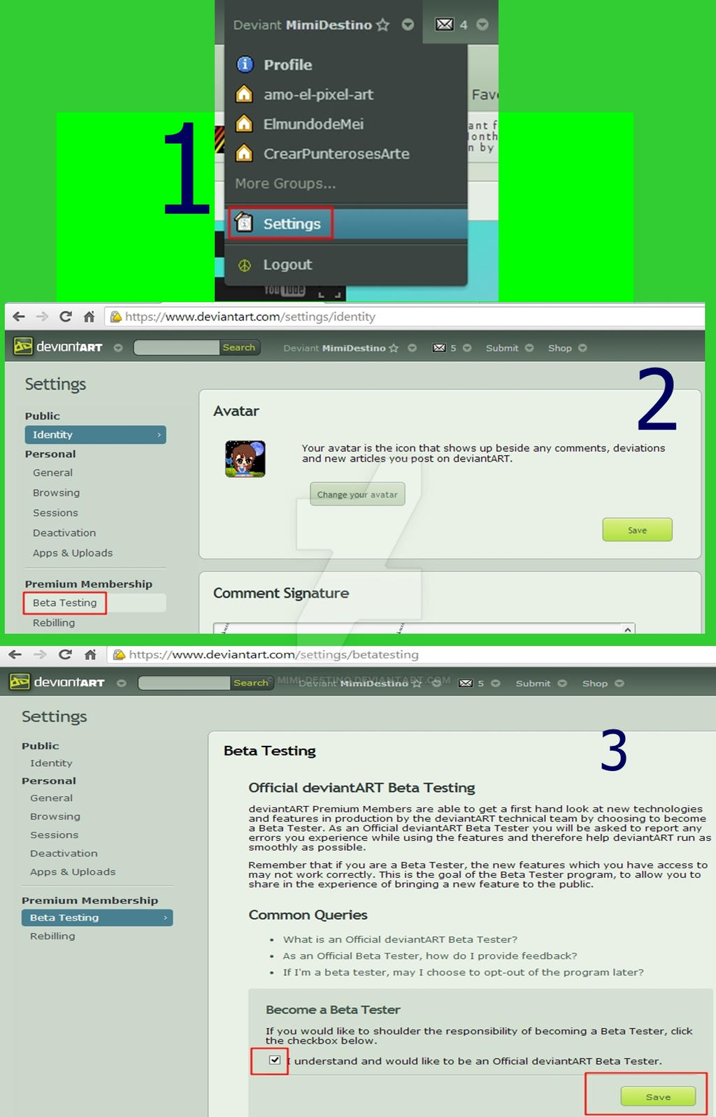 Steps For Be A Beta Tester by Mimi-Destino