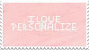 I Love Personalize 2 Stamp by LiaxmmyArt