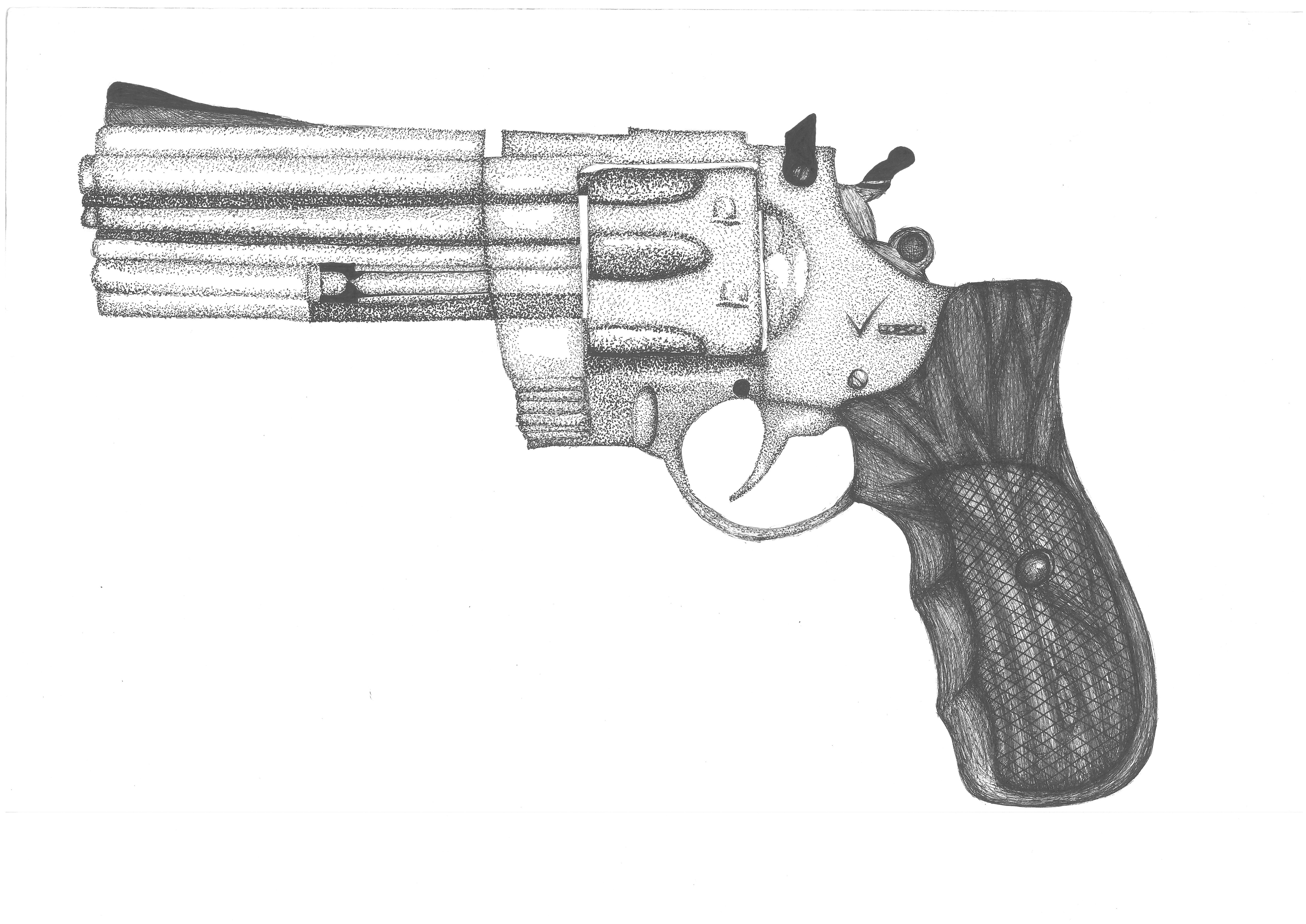 Revolver Gun Pencil Drawing | www.imgkid.com - The Image ...