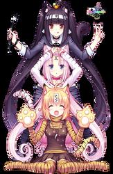 Chocola Vanilla and Caramel render by Runukia