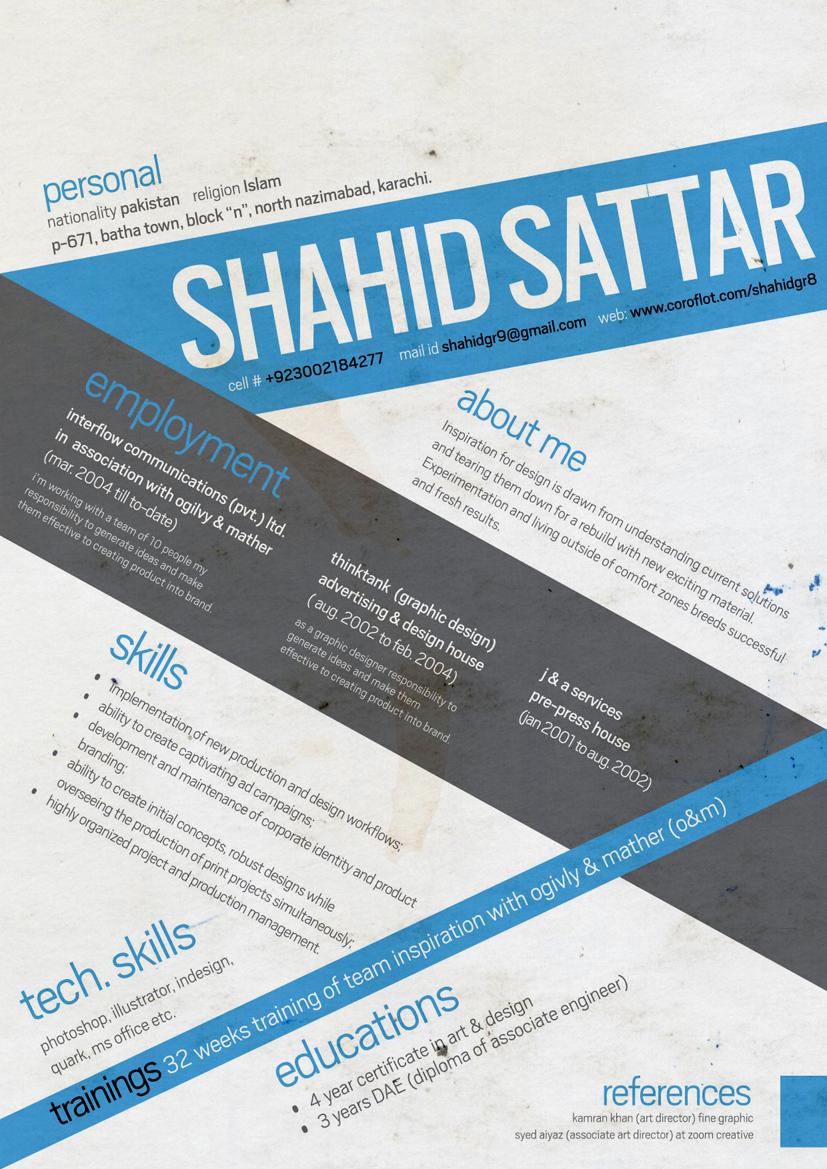 graphic design cv by shahidgr8 on deviantart