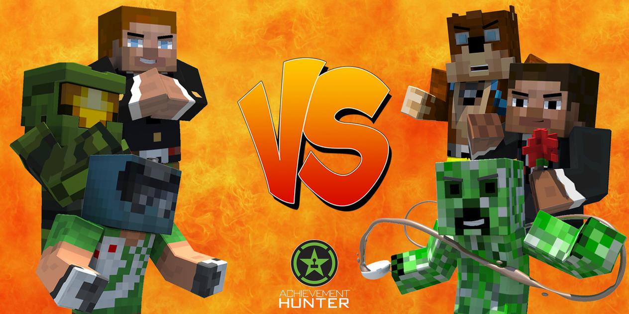 Achievement Hunter Versus Poster (Minecraft Style) by ... Achievement Hunter Comic Poster