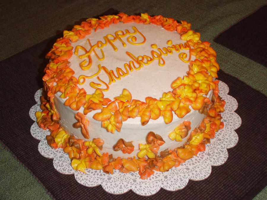 Cake Decoration Thanksgiving : Thanksgiving Cake by megalbagel on DeviantArt