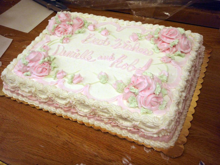 Cake Designs For A Bridal Shower : Wedding Shower cake by megalbagel on DeviantArt