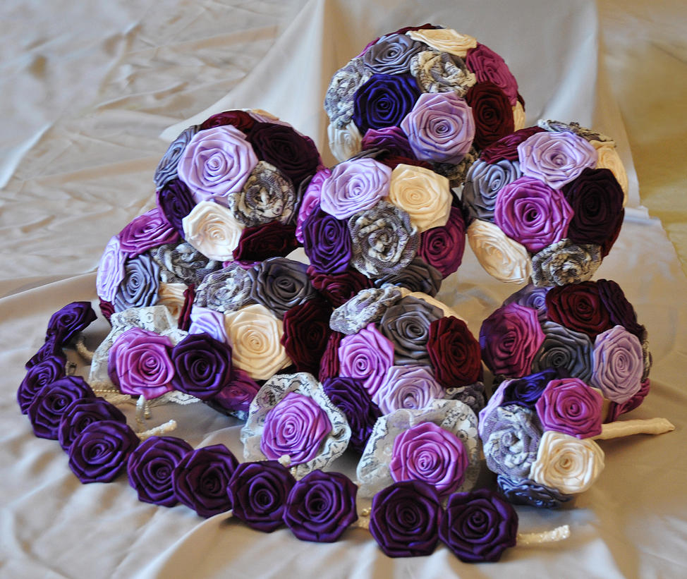 Purple Victorian Wedding Flowers By Megalbagel On DeviantArt