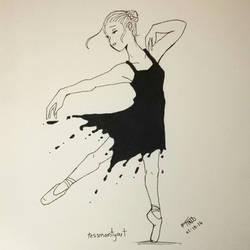 Inktober no.1 - ink dancer