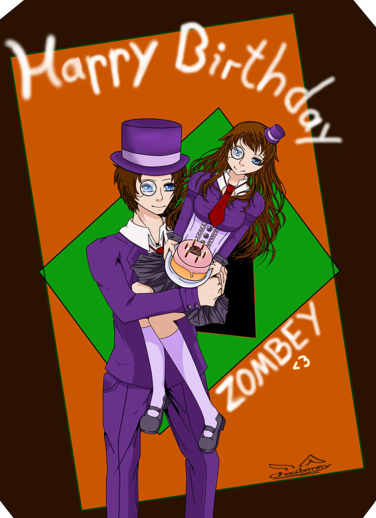 Happy Birthday Zombey by Chocibunny