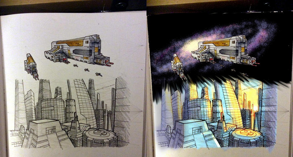 Daily Sketch - Destroyers and Creators by Snazz84