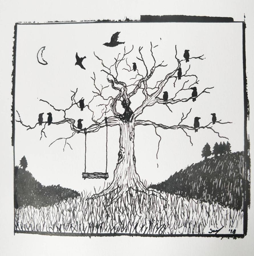Tree of birds by Smunten16