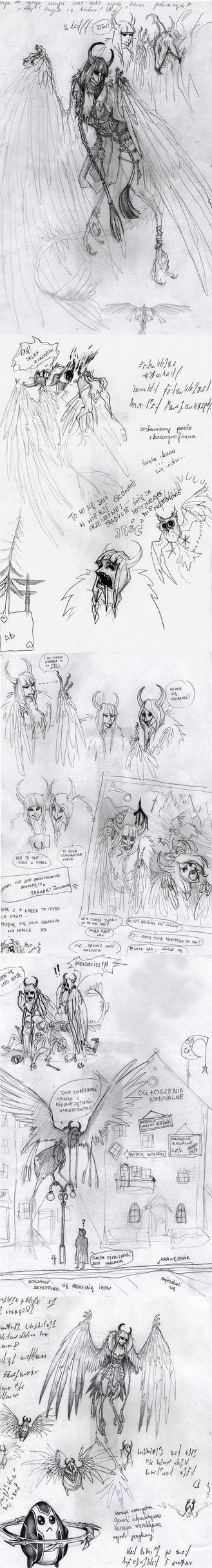 Harpy sketch dump by Krzeslo-H