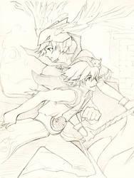 RO sketch: Tiamat and LoK by mokuren