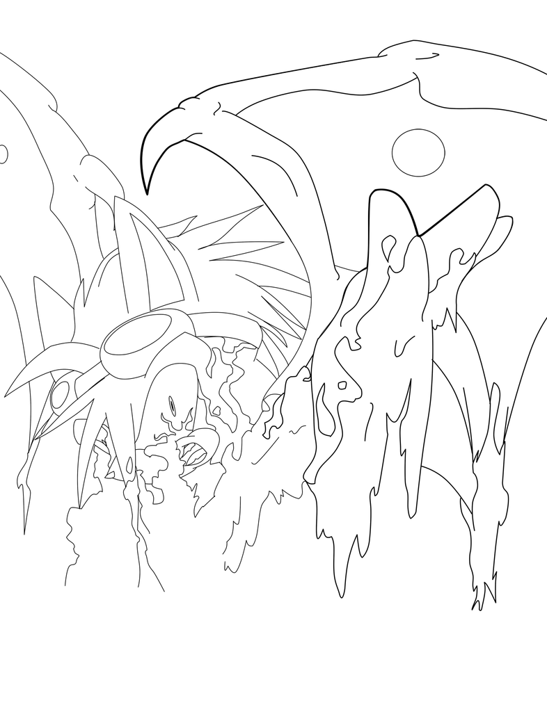 WIP-AT Kaburu-lineart by Fly-Sky-High