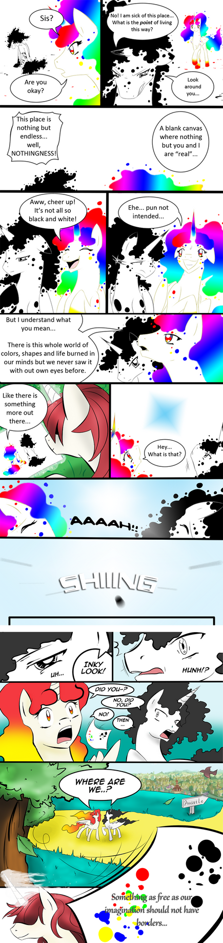 Ask Inky and Palette intro comic by Fly-Sky-High