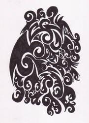 Tribal Dragon Egg by fionarea