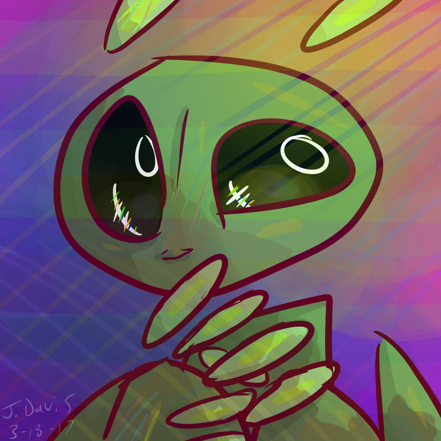 colorful Alien by ThatDorkInClass