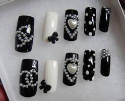 CC style 3d nails set by jadelushdesigns