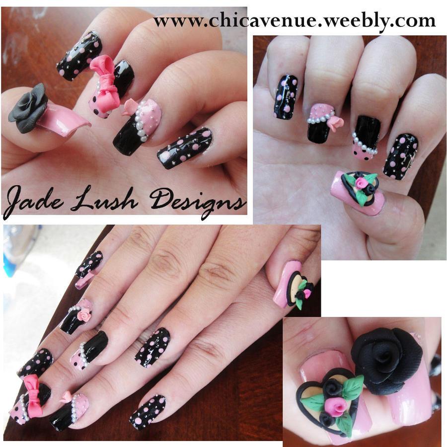 Polka Dot Bow Nail Art My Own Email