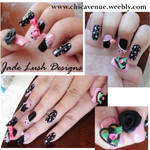 CUTE POLKA DOT BOW NAILS