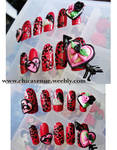 3d SHATTERED HEART NEW NAILS