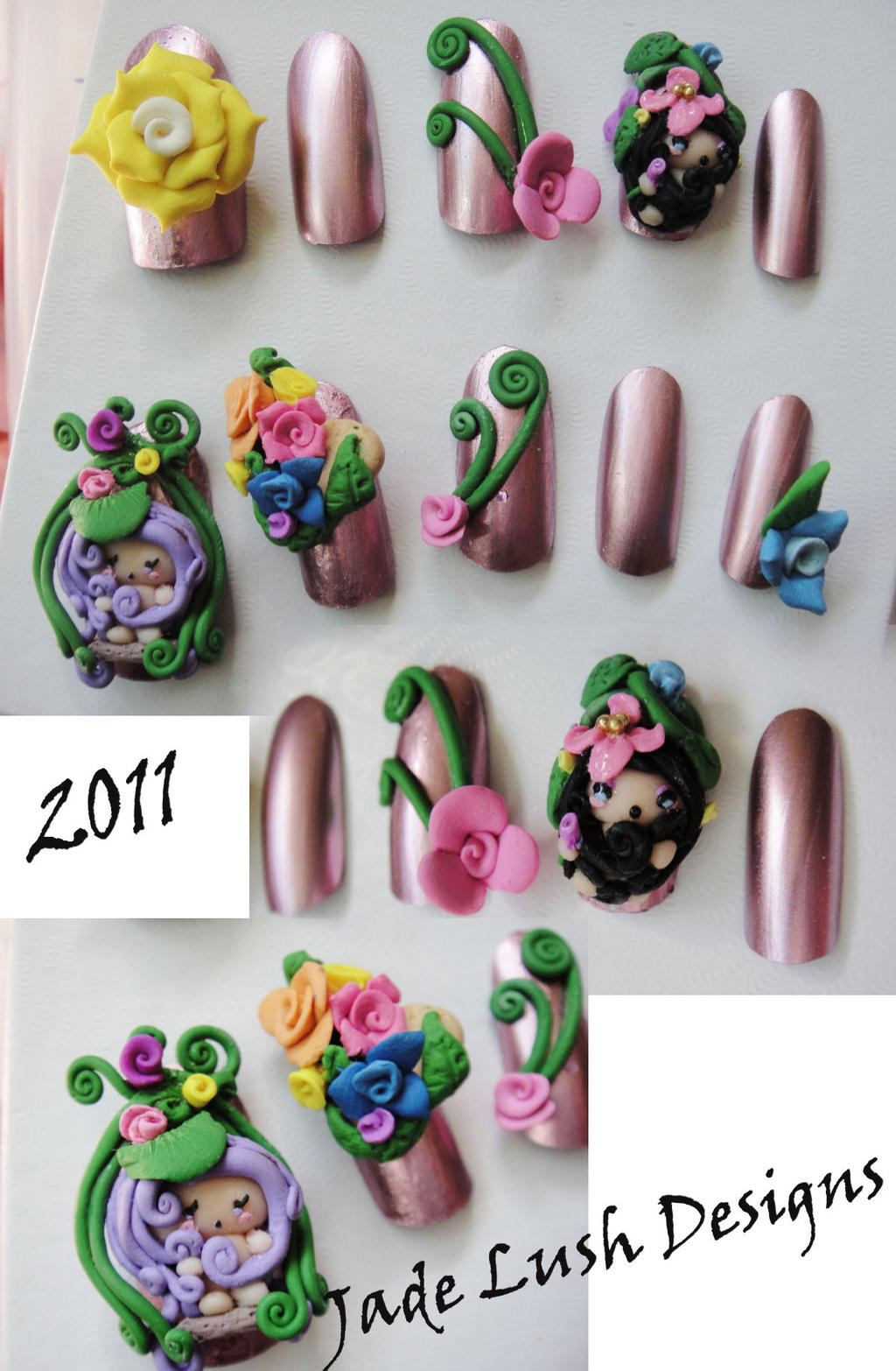 My Cute New Baby 3d Nails Set By Jadelushdesigns On Deviantart