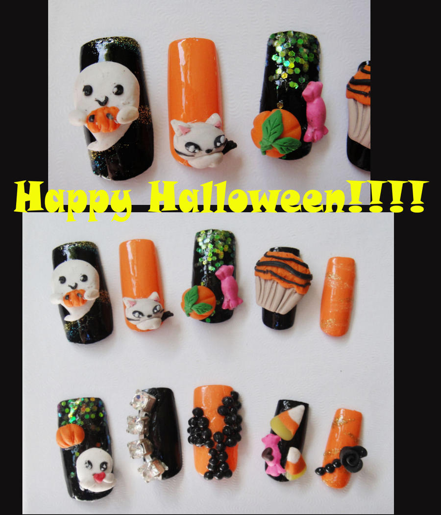 Happy halloween ghost 3d nail by jadelushdesigns on deviantart happy halloween ghost 3d nail by jadelushdesigns prinsesfo Gallery