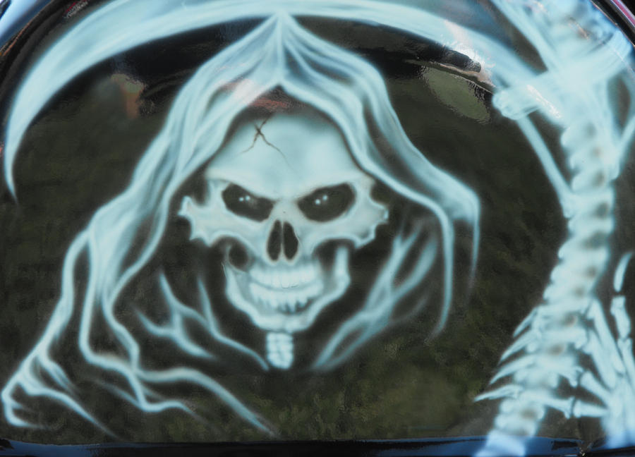 Grim Reaper Airbrush on Grim Reaper Airbrush Art