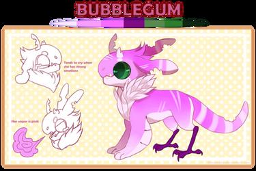 Jr - Bubblegum Reference by Draconeko