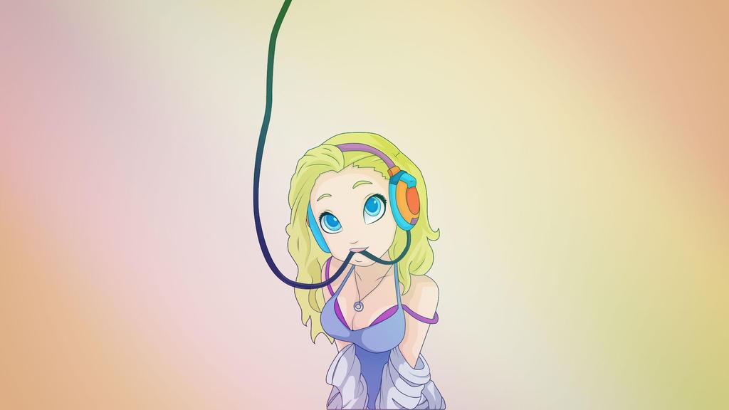 Sexy headphones (Wallpaper) by EM3DI