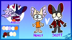 Honey n Scott // Reference Sheet // 2017 by Seagull-City
