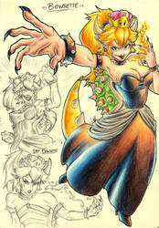 =Bowsette= by AllyPhills