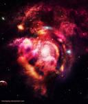 Nebula and galaxy