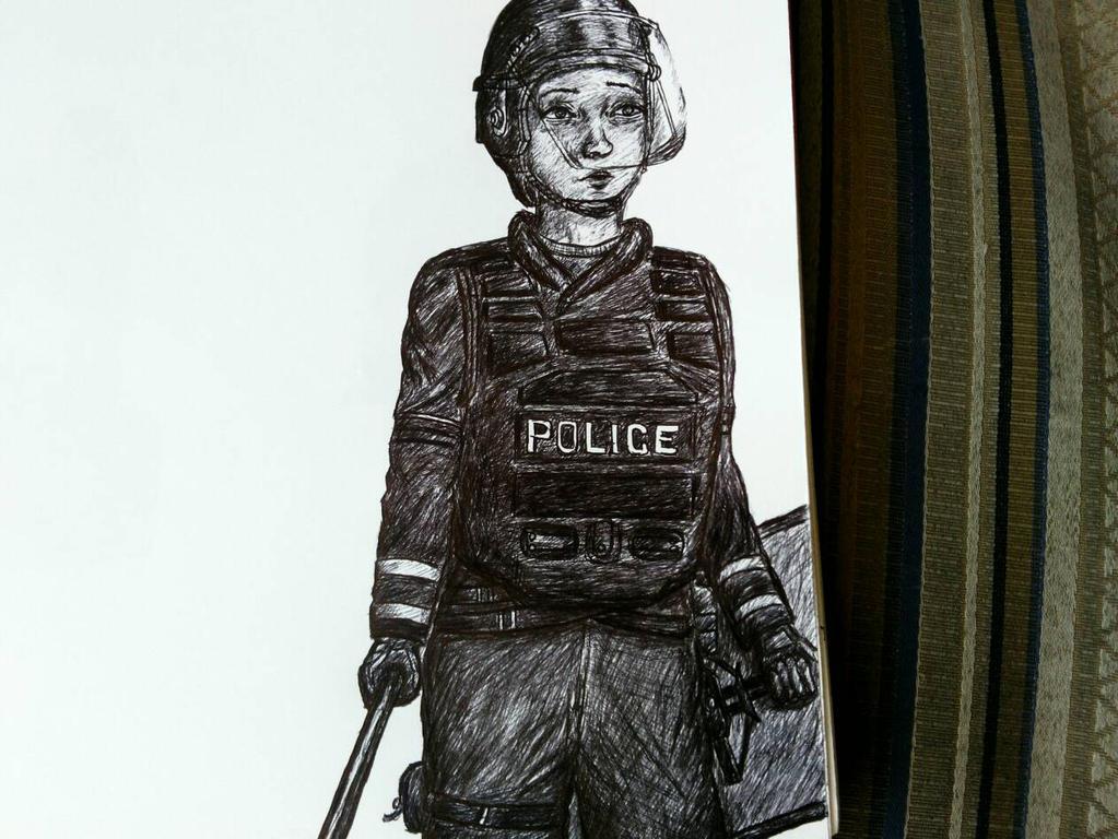 Cop waifu by garfaz