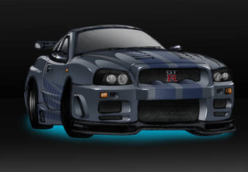 Almost2F2F-Nissan Skyline GT-R by MobileSuitGio