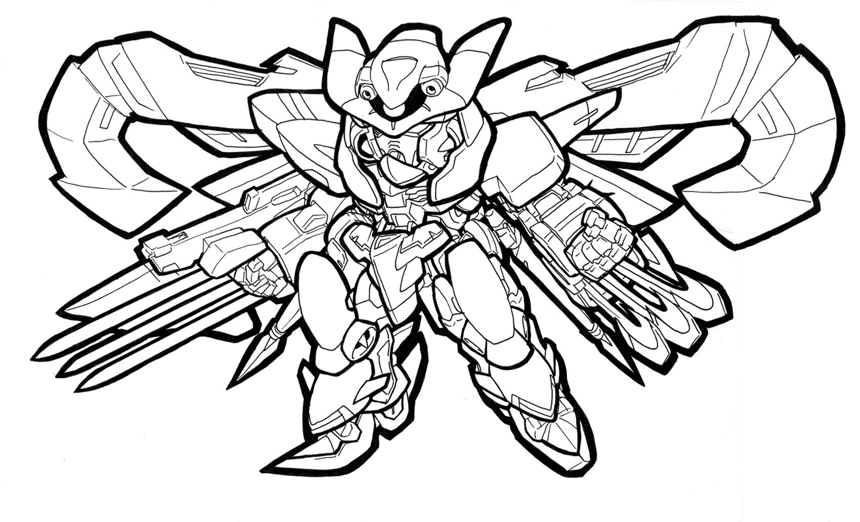 g gundam coloring pages - photo #39