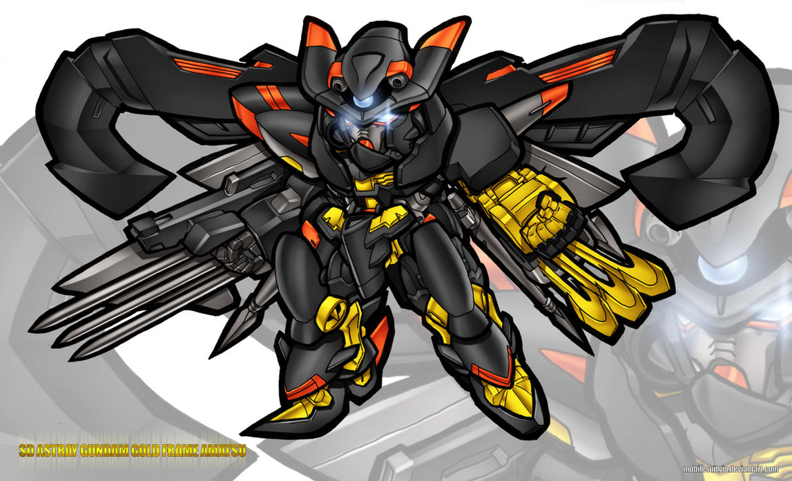 SD Astray Gold Frame Amatsu by MobileSuitGio