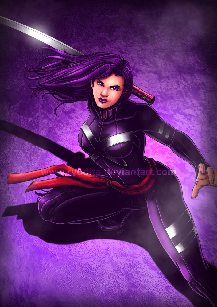 Marvel Psylocke Art Rainbow Week: Purple l...