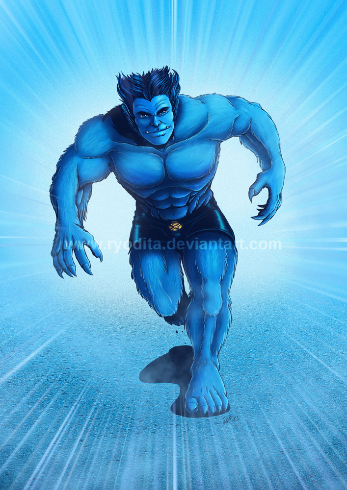 Rainbow Week: Blue like Beast by ryodita