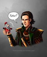 Christmas confuses Loki by ryodita