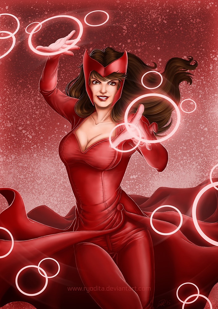 Rainbow of Evil: Red for Scarlet Witch by ryodita