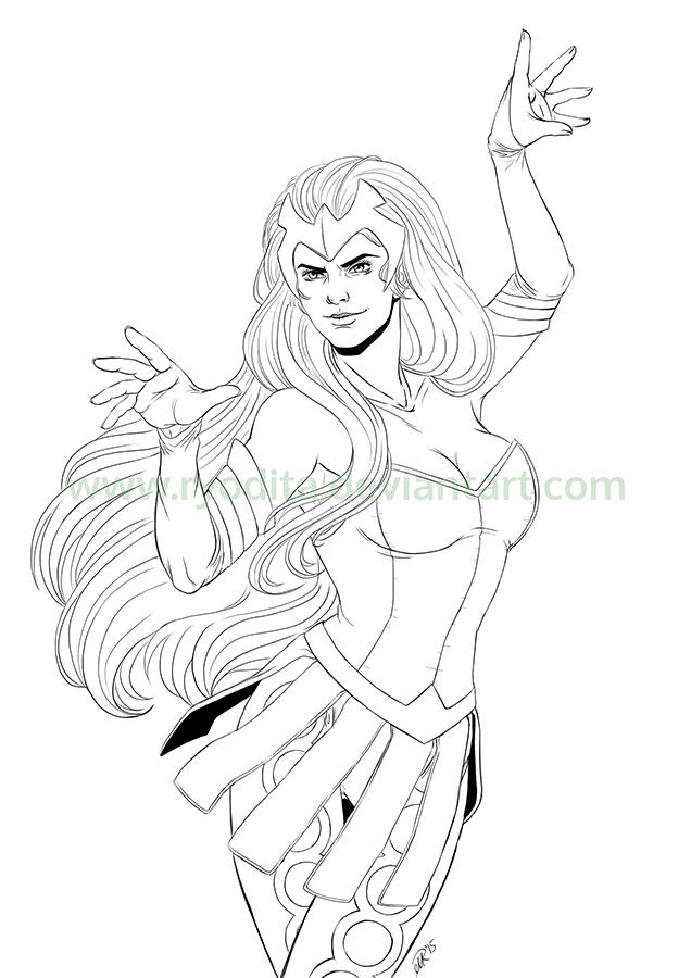 Enchantress Sketch by ryodita