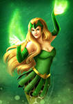 Rainbow of Evil: Green for Enchantress