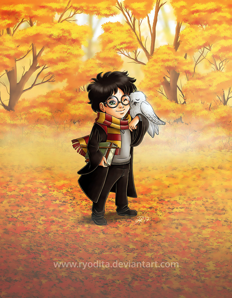 Chibi Harry and Hedwig by ryodita