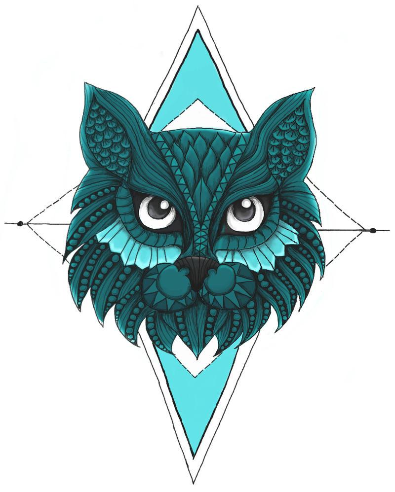 Cat tattoo design by Blamberino