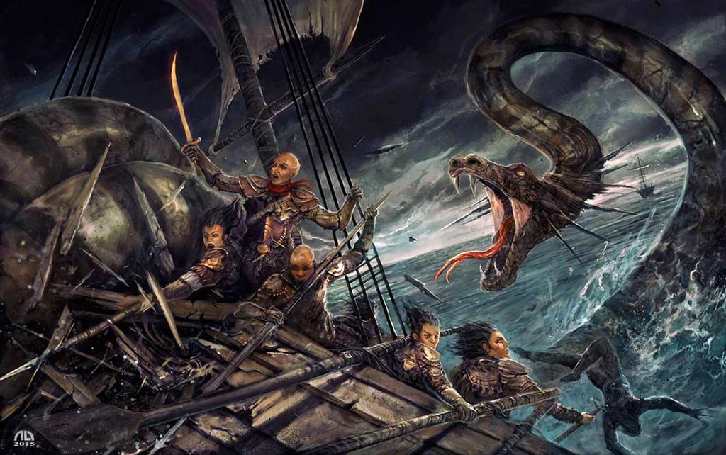 sea serpent by alikasapoglu