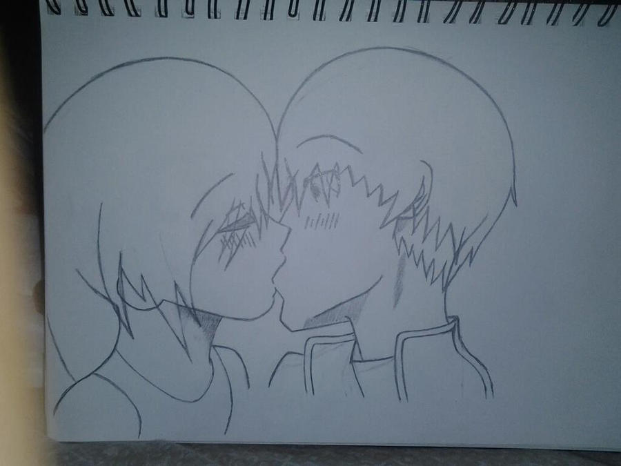 First anime kiss drawing Surprise_kiss_blake_and_sonia_by_blazekingproductions-d57sbb4