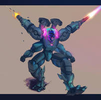 Mecha Furry by ymymy - by Dront by Nathan123qwe