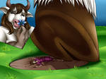 Foot Crush YCH #1  Tauren by xMonsterGirlsHideout